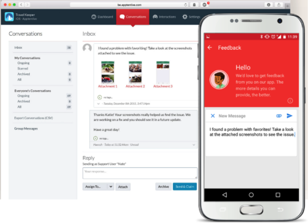 In-app feedback